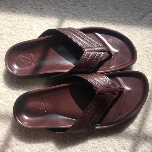 b8a66640f6f4a Louis Vuitton Other - Louis Vuitton men s leather flip flop sandals